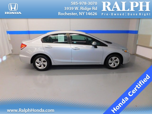 Certified Pre Owned 2015 Honda Civic LX